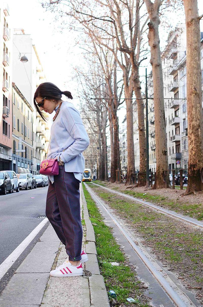 Color A Un Quadretti Pantalone Maglione Pastello Vichy E QsdCrth
